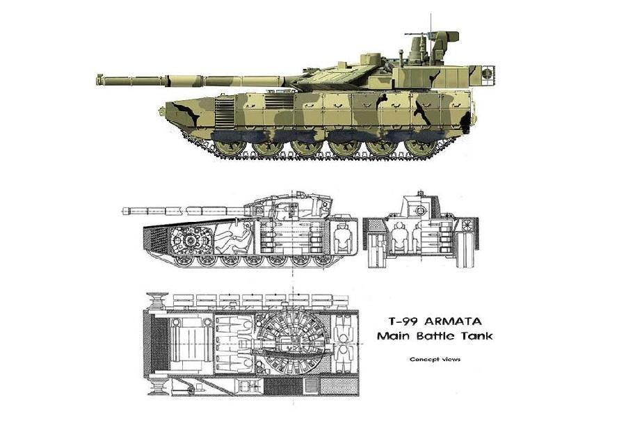 Koncept ruskega tanka armata T-99