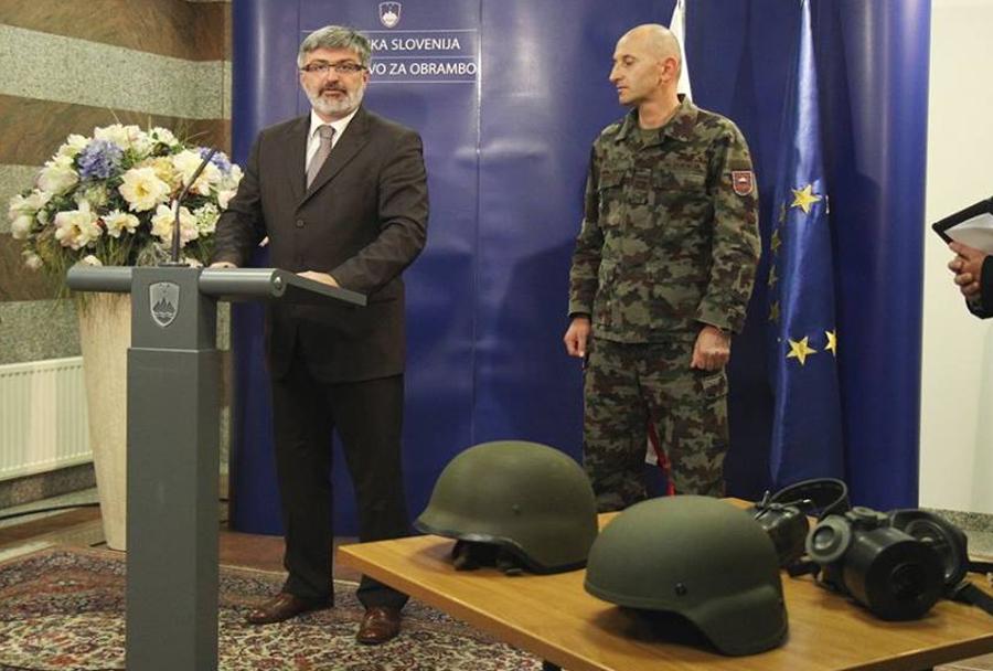 Predstavitev nove čelade MCH Slovenske vojske