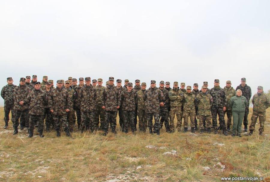 Pripadniki protioklepne čete 72. brigade Slovenske vojske na Madžarskem