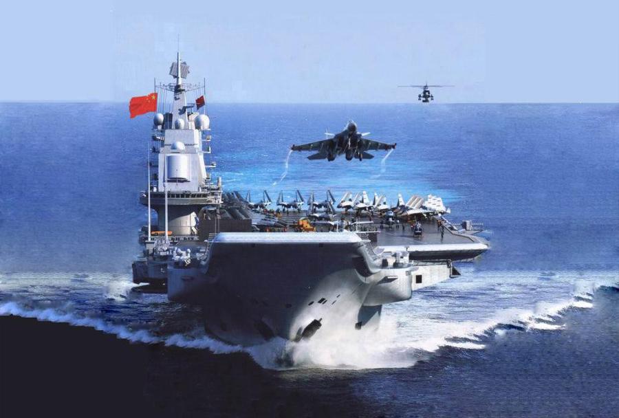 Vzlet kitajskega lovca J-15