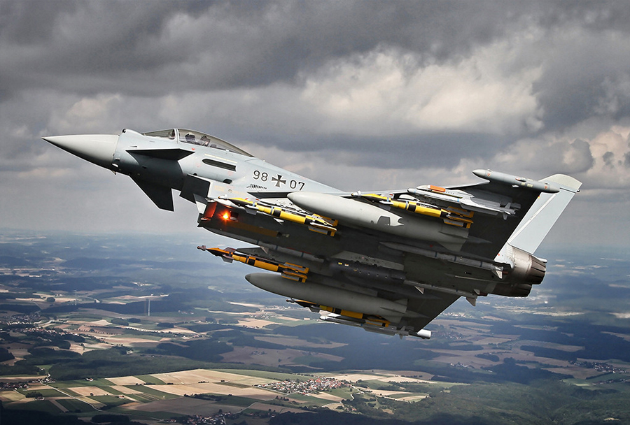 Lovec Eurofighter typhoon Luftwaffe