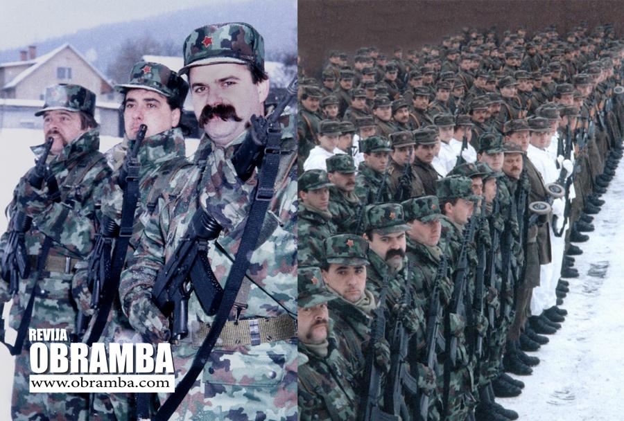 Postroj specialne brigade MORiS v Kočevski Reki