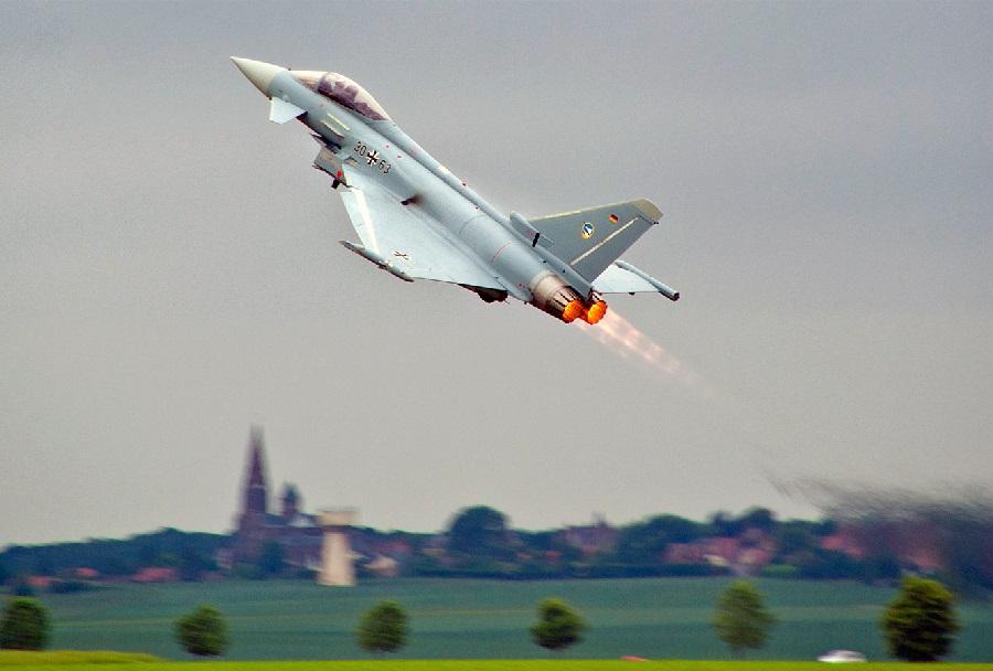 Nemško bojno letalo Eurofighter typhoon