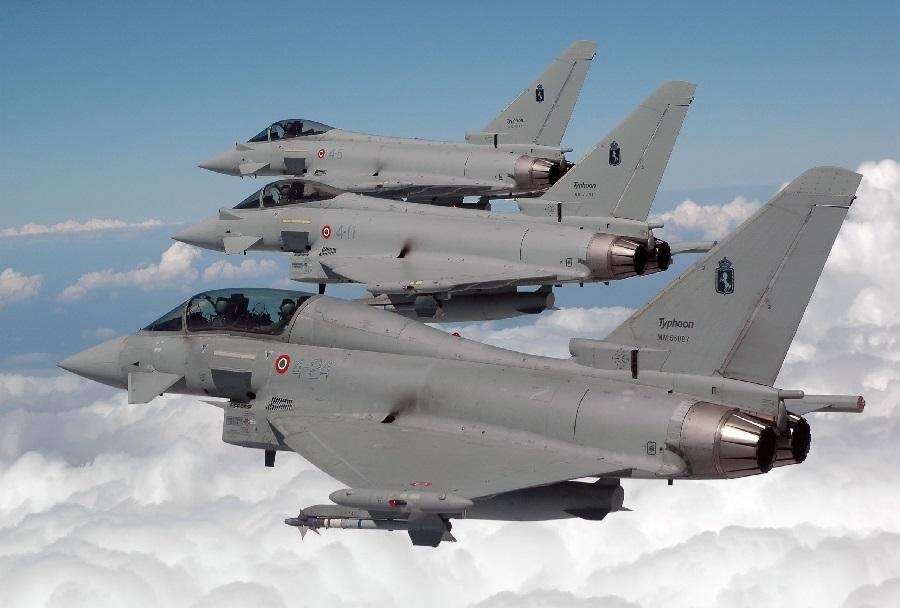 Italijanski lovci Eurofighter typhoon