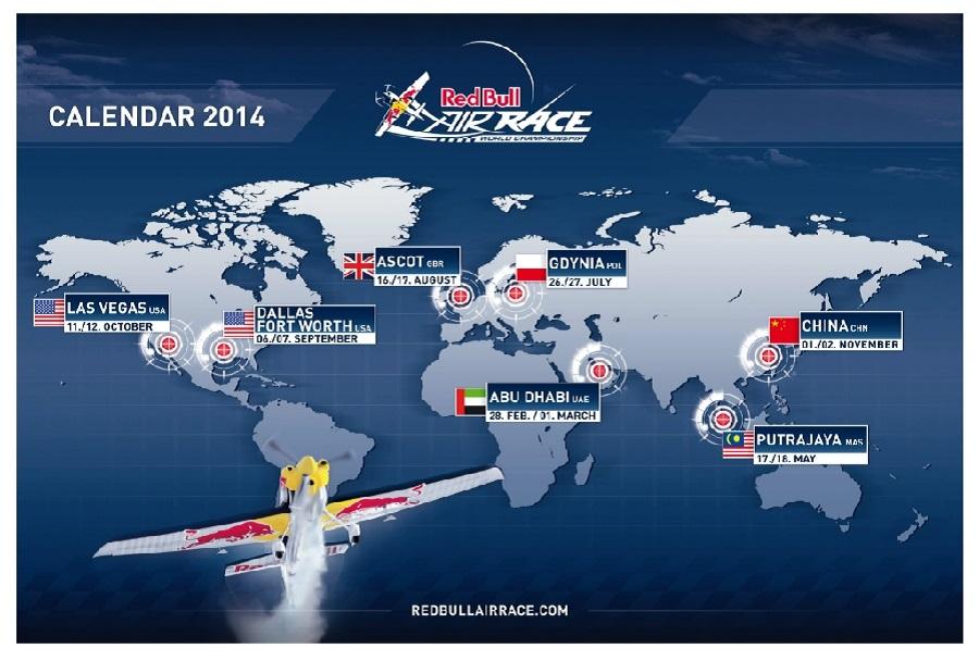 Red Bull Air Race koledar 2014