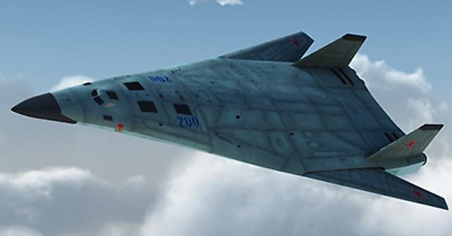 Koncept ruskega bombnika PAK-DA - Tupoljev