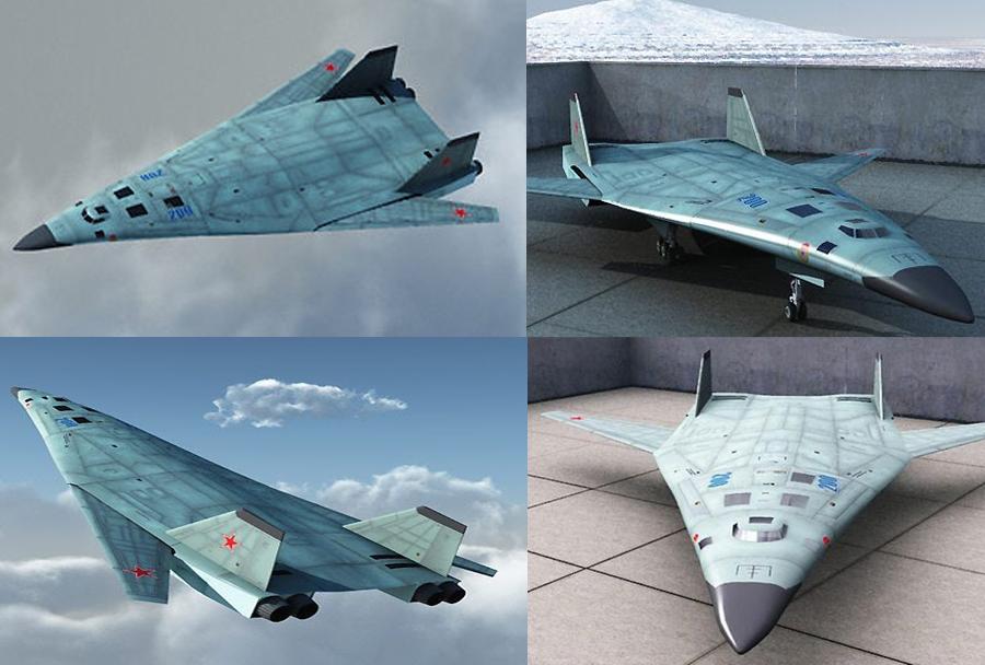 Koncept ruskega bombnika PAK-DA 5. generacije