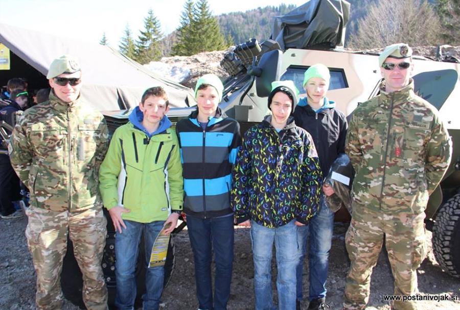 Slovenska vojska in mladi v Planici, marec 2014
