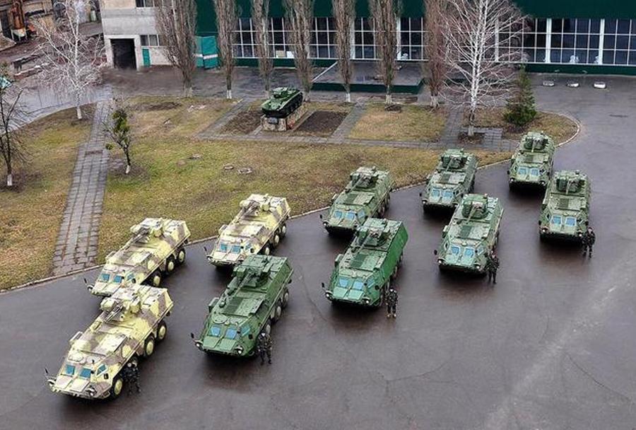 Oklepna vozila BTR-4 za ukrajinsko Nacionalno gardo