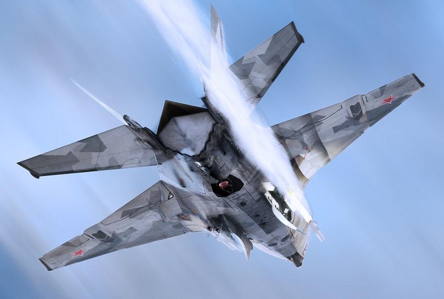 Koncept prestreznika MiG-41 - od zadaj
