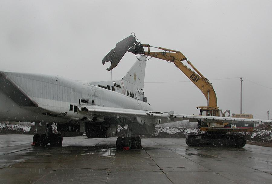 Razgradnja ukrajinskega bombnika Tu-22