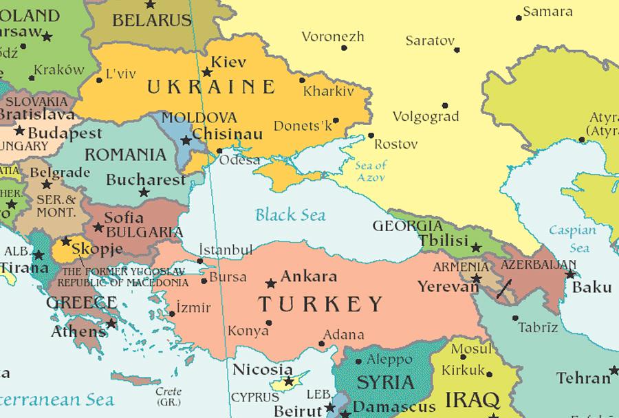 mapa evrope krim Zemljevid: Rusija, Ukrajina, Gruzija | Spletni portal obramba.com mapa evrope krim