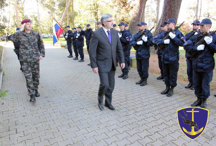 430. mornariški divizion Slovenske vojske - minister Roman Jakič in načelnik GŠSV Dobran Božič