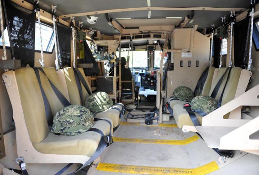 Hrvaška vojska - notranjost vozila MRAP