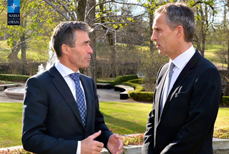Anders Fogh Rasmussen in Jens Stoltenberg