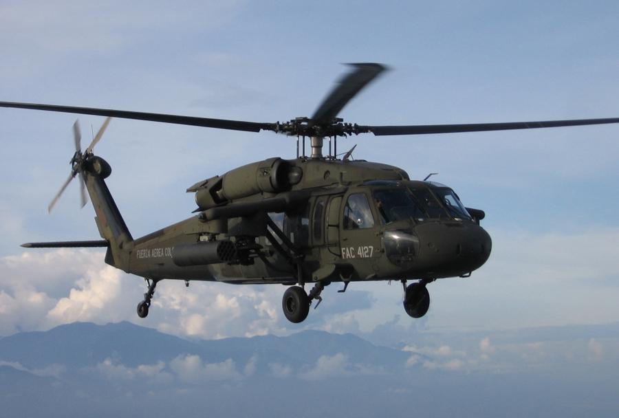 Mehiške letalske sile - helikopter Sykorsky UH-60 black hawk