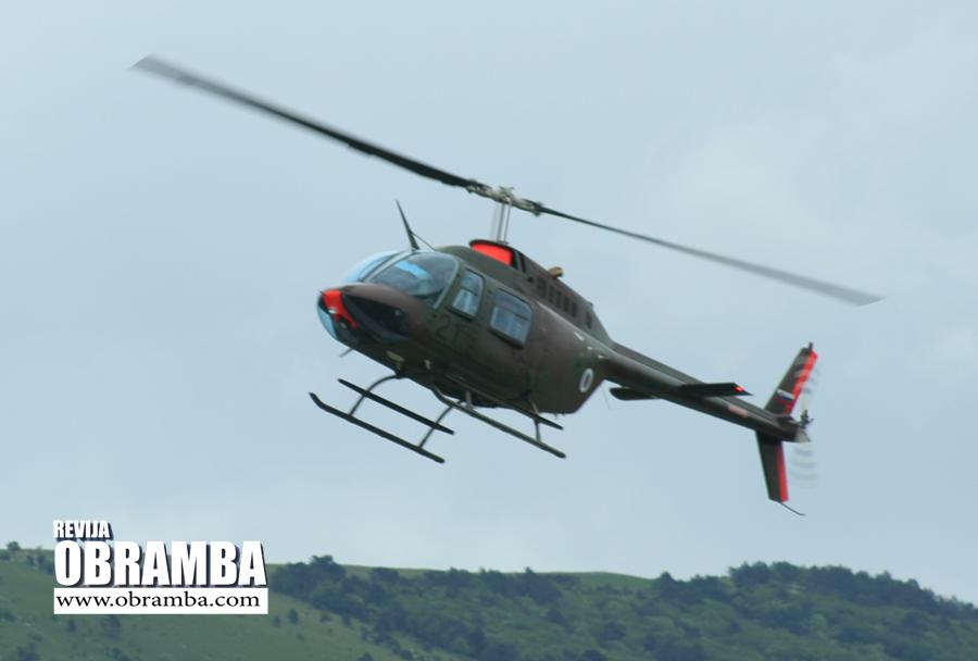 Helikopter Bell-206 - Slovenska vojska Premik 2013