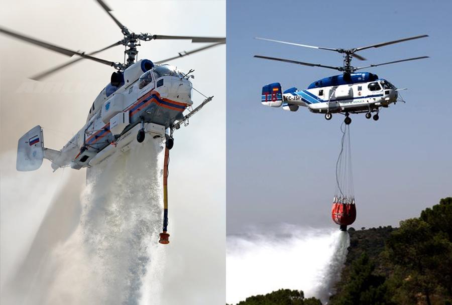 Gašenje požarov s helikopterjem Ka-32