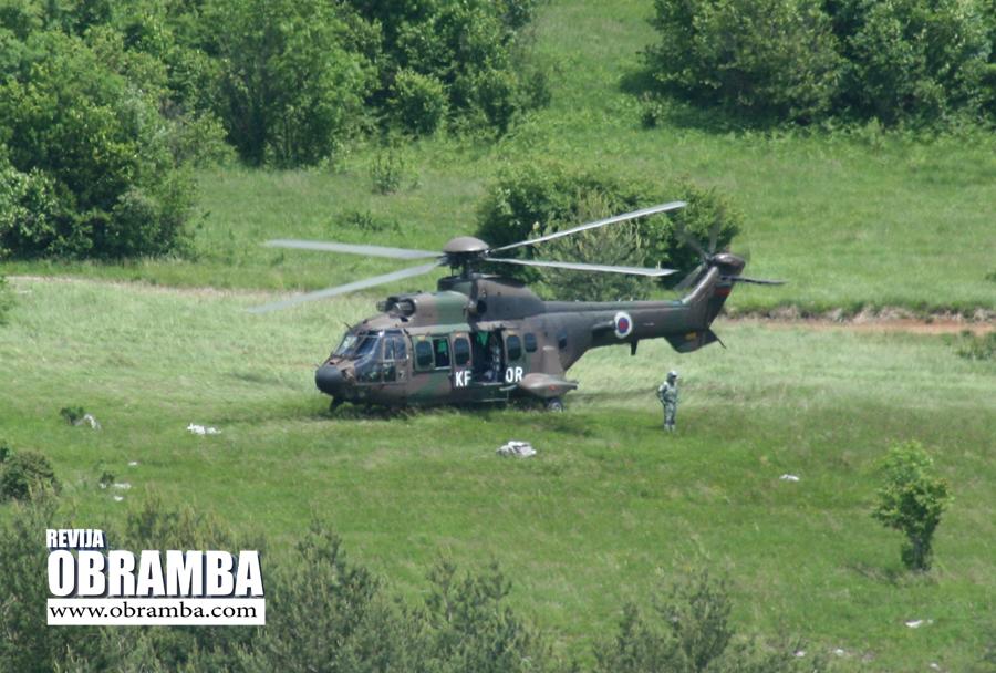 Helikopter cougar - Slovenska vojska Premik 2013
