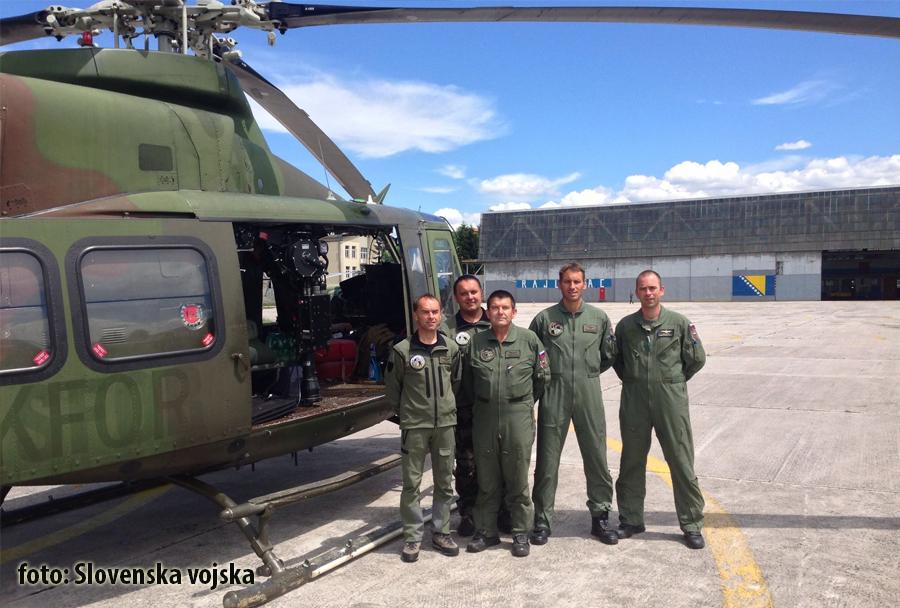 Posadka helikopterja SV Bell-412 v BiH