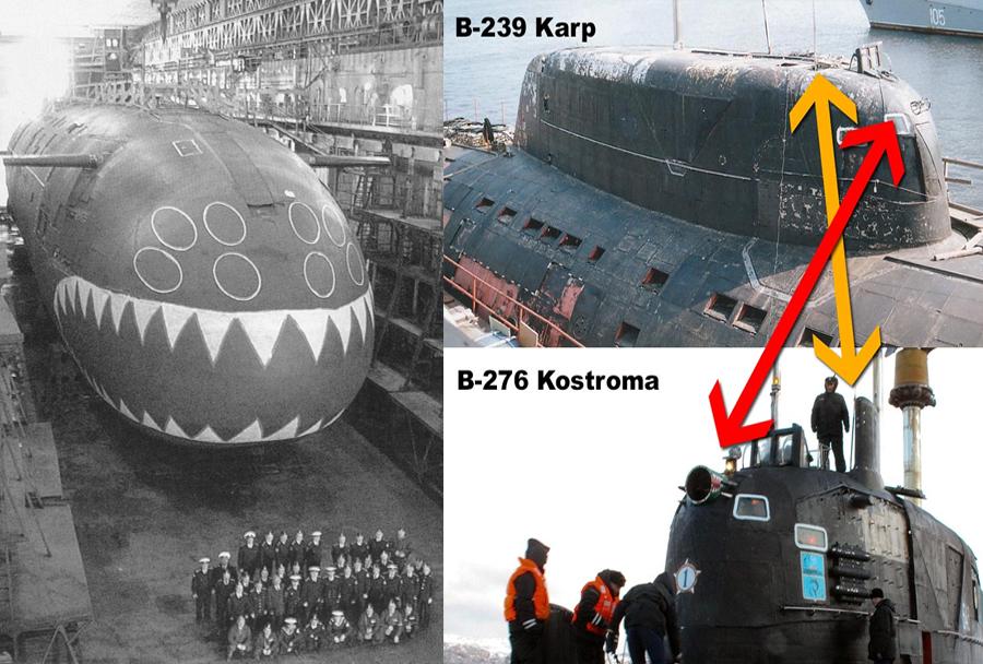 Obe ruski jedrski podmornici razreda sierra I (barakuda)