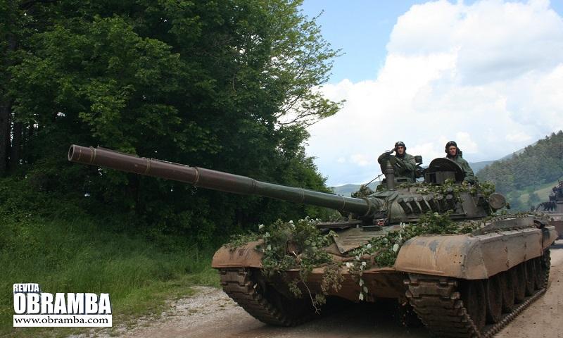 Tank T-84 - Slovenska vojska Premik 2013