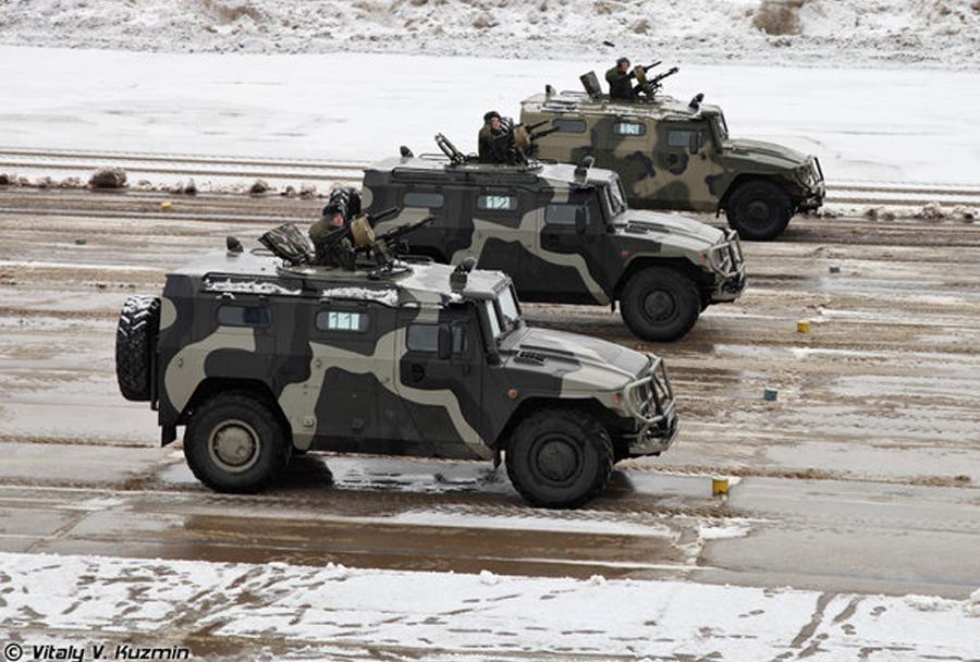 Lahko oklepno vozilo GAZ tiger-M - Ruska vojska