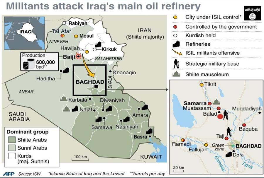 napad-na-rafinerijo-Baiji-Irak