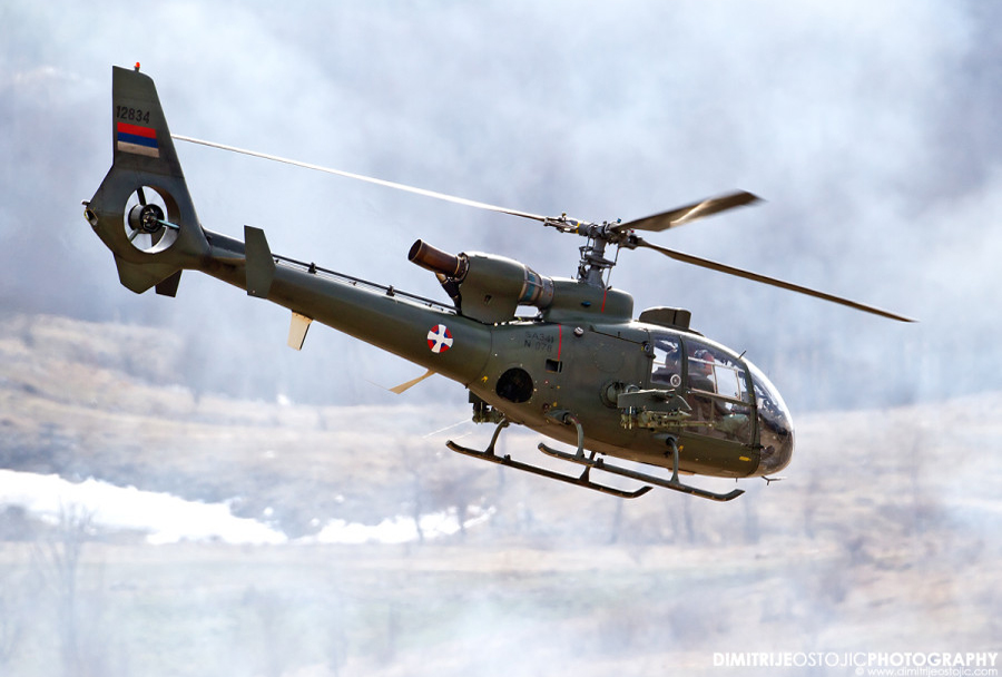 Srbski helikopter SA-341 gazela