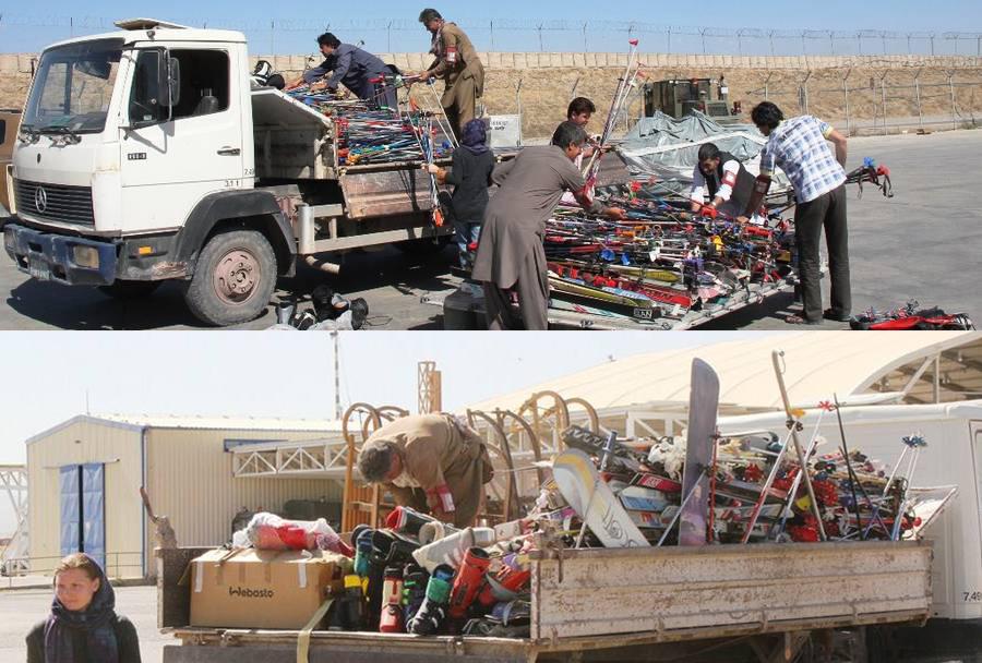 Donacija smuči Afganistancem - Slovenska vojska ISAF