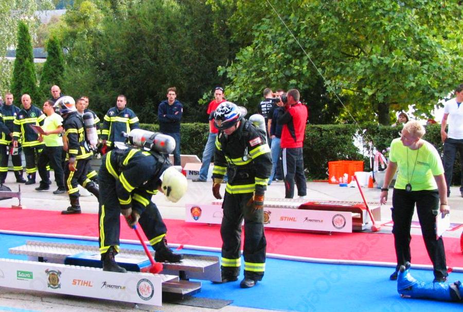 Gasilsko tekmovanje Firefighter Combat Challenge Slovenija - Bled