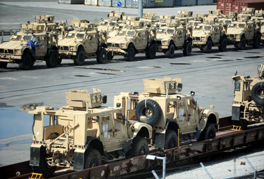 Hrvaška vojska - prihod oklepnikov M-ATV