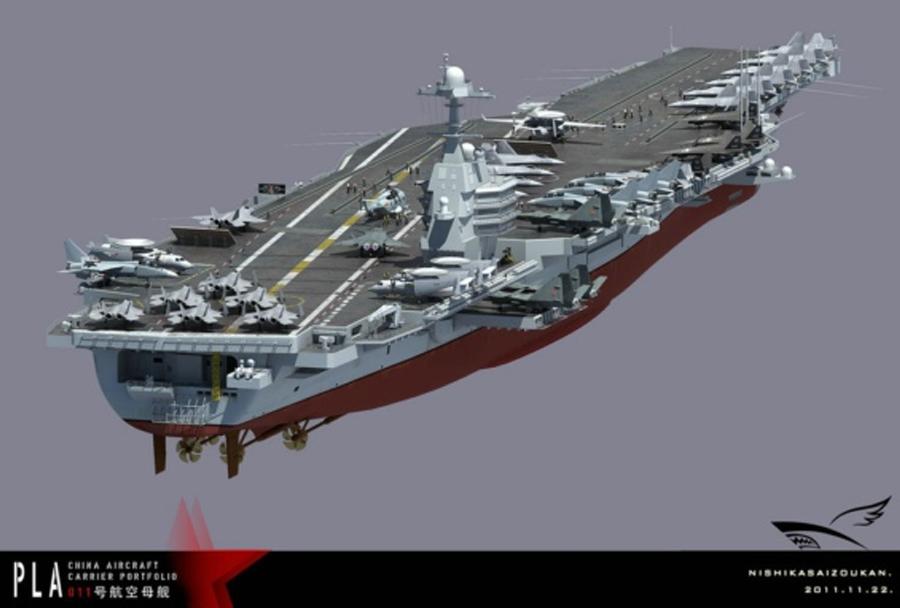 Koncept nove kitajske letalonosilke