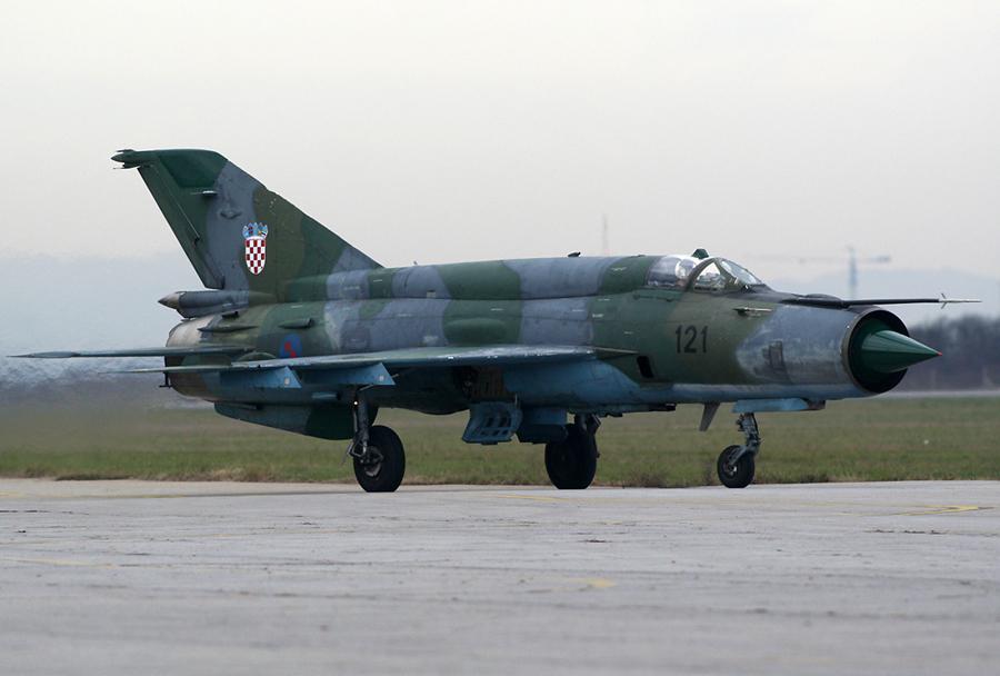 Hrvaški lovec MiG-21 pred zadnjim poletom