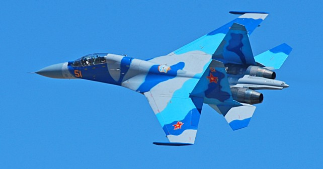 Kazahstanski lovec Suhoj Su-27