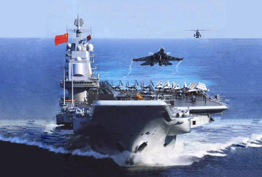 Kitajska letalonosilka Liaoning in lovec J-15