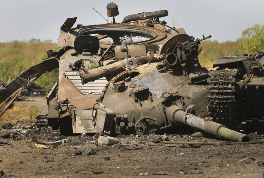 Uničen ukrajinski tank T-64