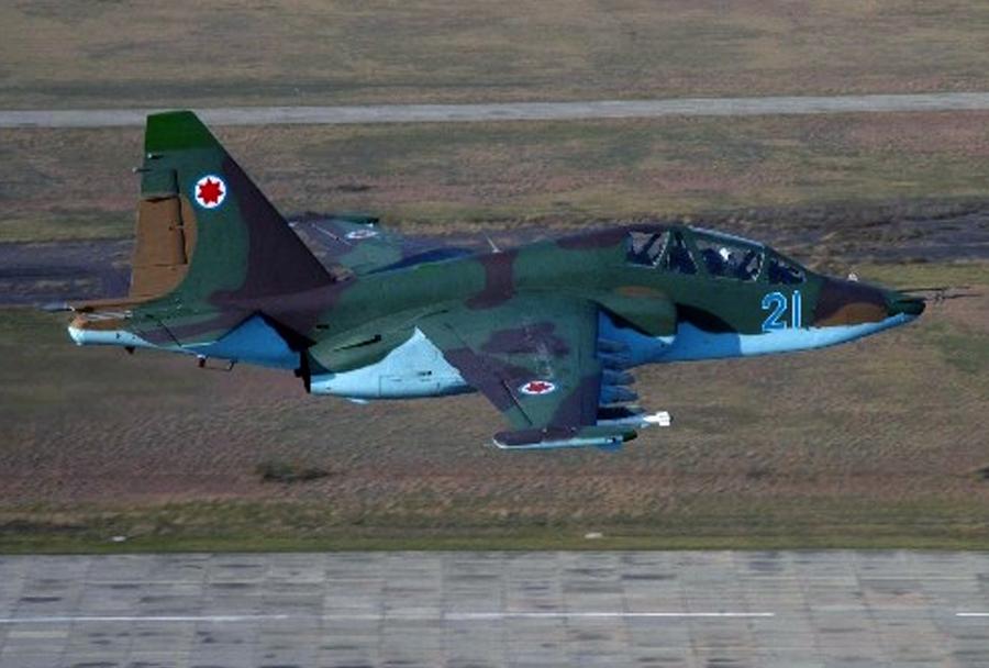 Bolgarsko jurišno letalo Suhoj Su-25