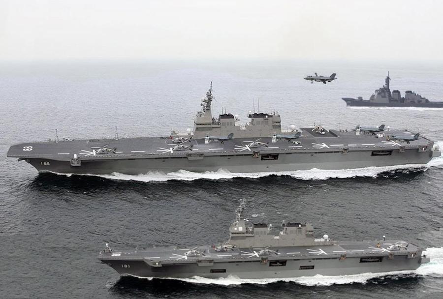 Japonski nosilki helikopterjev DDH-183 Izumo razreda izumo in hyūga