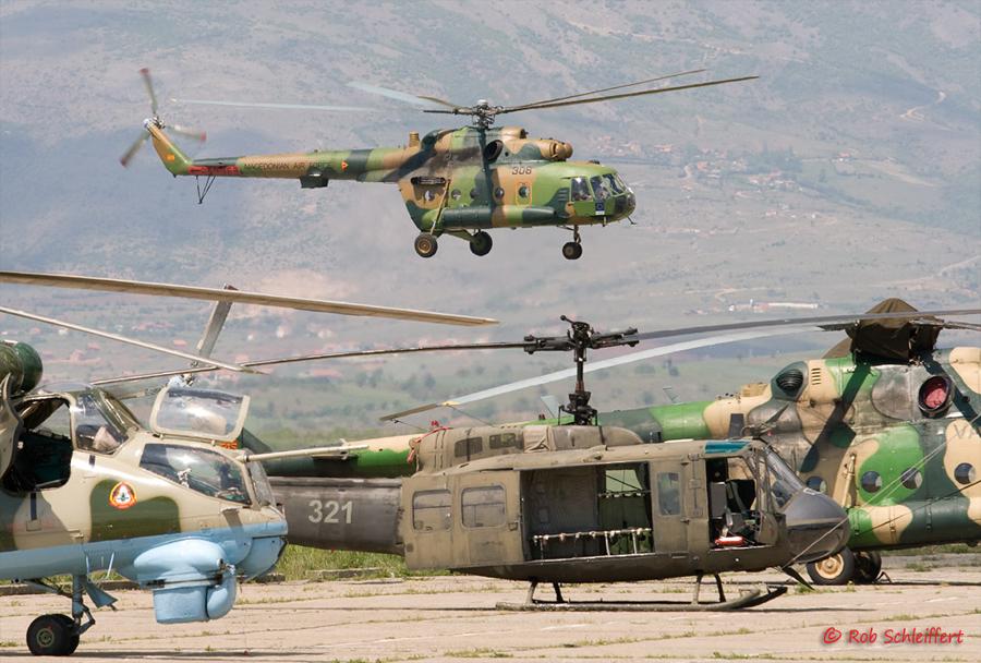 Makedonski helikopterji Mi-8, Mi-24 in UH-1H