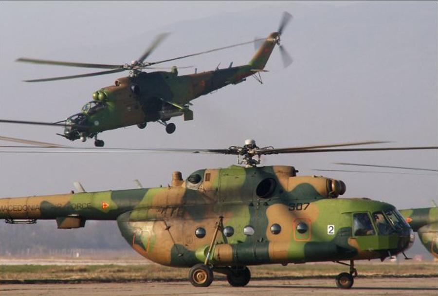 Par makedonskih helikopterjev Mi-24 in Mi-8