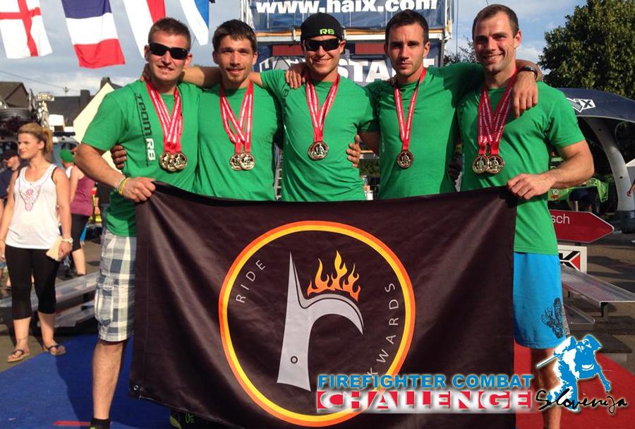 Slovenski gasilci na tekmovanju Firefighter Combat Challenge v ZDA