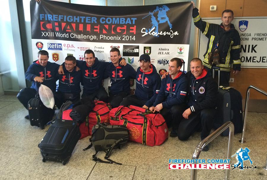 Slovenska gasilska ekipa FCC ob-povratku iz ZDA