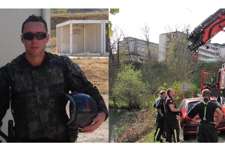 Vojak rešil voznico iz potapljajočega vozila