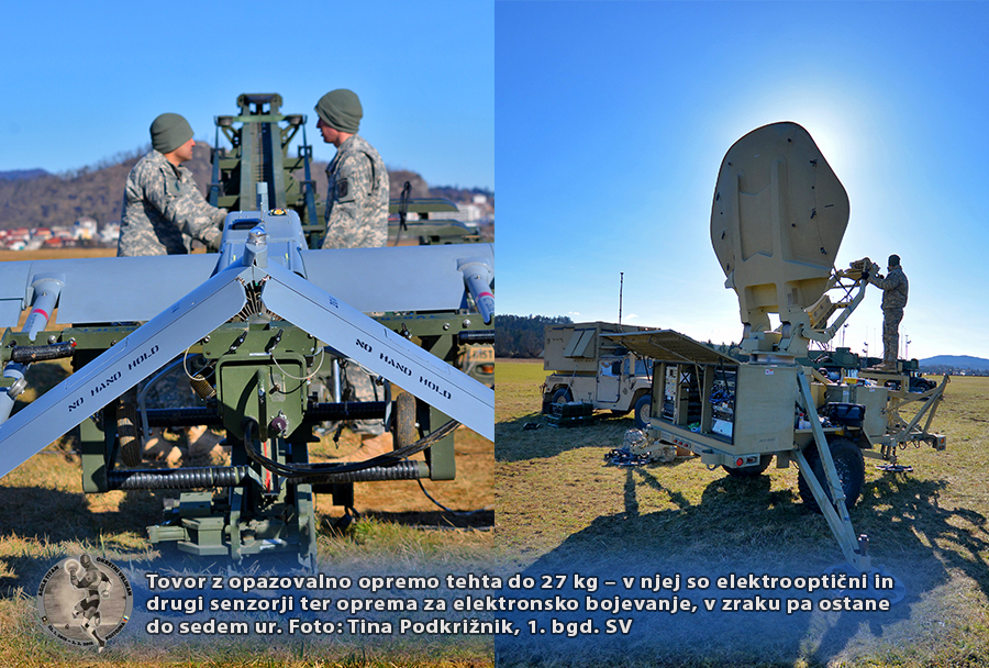 Skupno usposabljanje Okretni velikan - brezpilotno letalo RQ-7 shadow 200