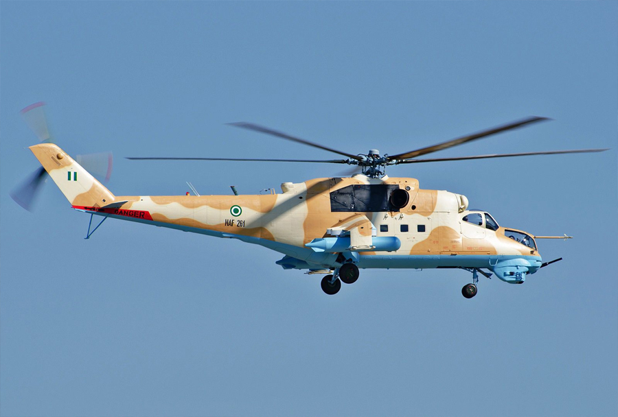 Nigerijski helikopter Mi-24