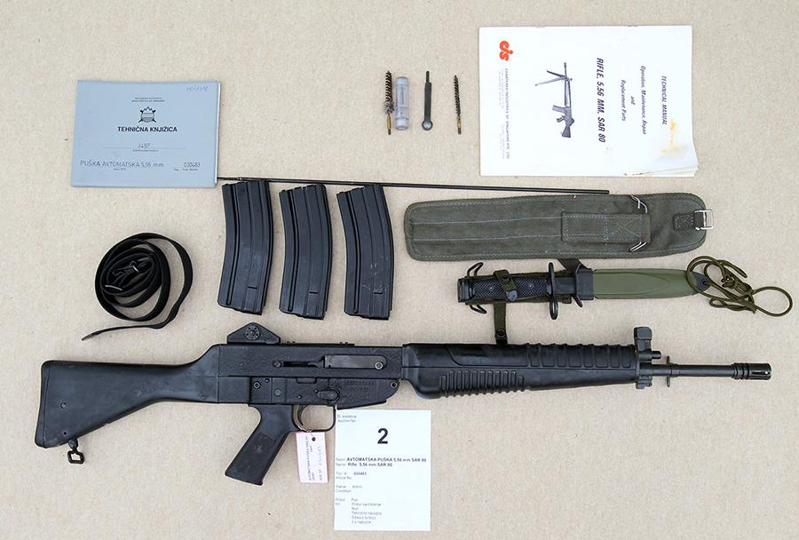 Dražba orožja Slovenske vojske