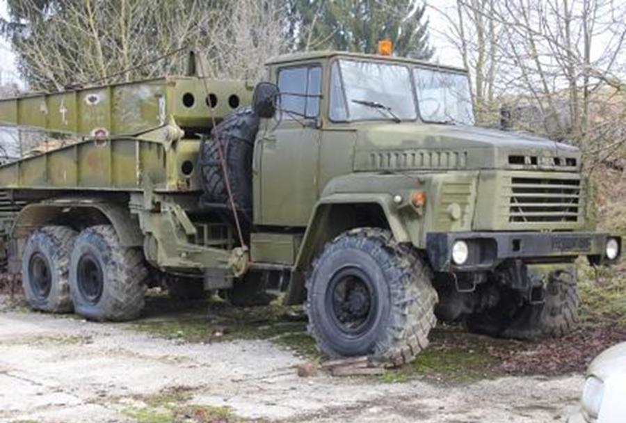 Mostopolagalec KRAZ - dražba Slovenske vojske