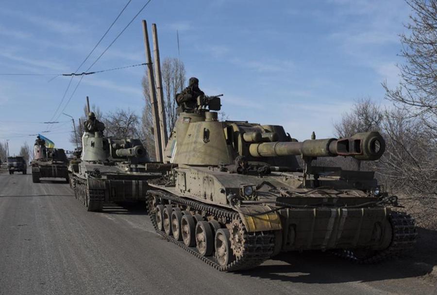 Ukrajinska vojska - samovozna havbica 2S3 akatsiya