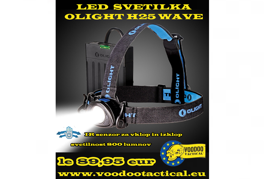 Naglavna LED svetilka Olight H25 wave